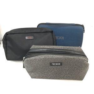 3 Tumi Travel Toiletry Organizer Case/Bags (H26)